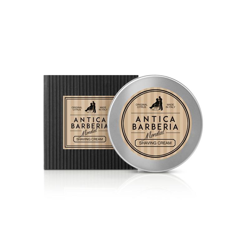Mondial Antica Barberia Barbercreme i Aluminiumskål, Original Citrus, 150 ml.