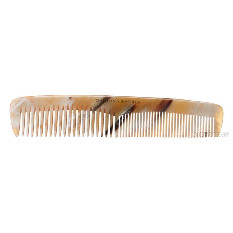 Daimon Barber Double Tooth Comb, Horn