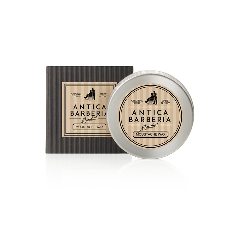 Mondial Antica Barberia Moustache Wax, Original Citrus, 30 ml.