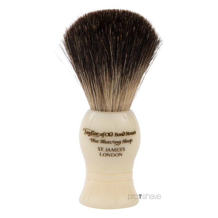 Taylor Of Old Bond Street Barberkost, Pure Badger, 9,5 cm, Ivory