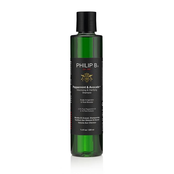 Philip B Peppermint & Avocado Shampoo, Volumizing & Clarifying, 220 ml.