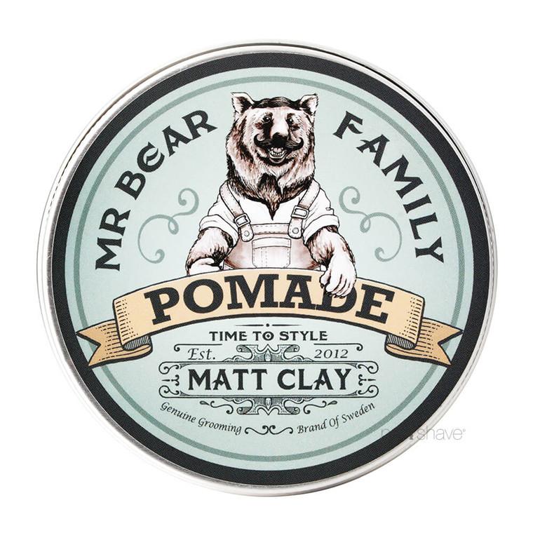 Mr. Bear Pomade - Matt Clay, Springwood, 100 ml.