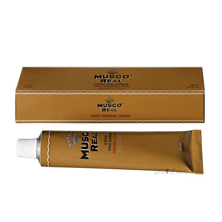 Musgo Real Barbercreme, Spiced Citrus, 100 ml.