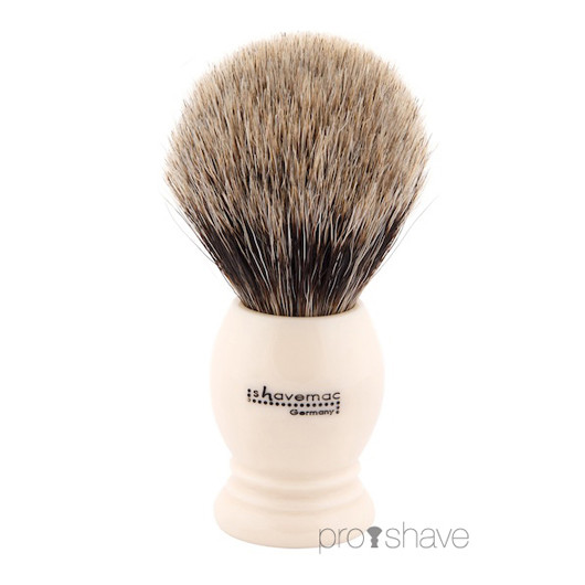 Shavemac Barberkost, Pure Badger, 23 mm.
