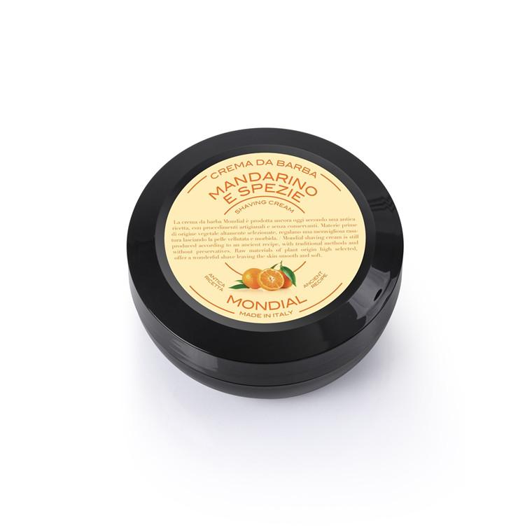 Mondial Shaving Barbercreme i Rejsestørrelse, Mandarin & Spice, 75 ml.