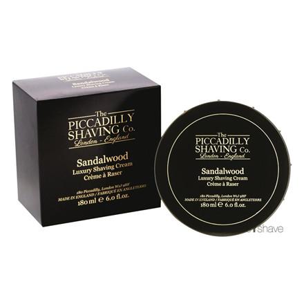 Piccadilly Shaving Sandeltræ Barbercreme, 180 gr.
