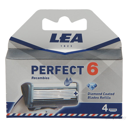 LEA Perfect, Cartridge med 4 barberblade (6+1 klinge)
