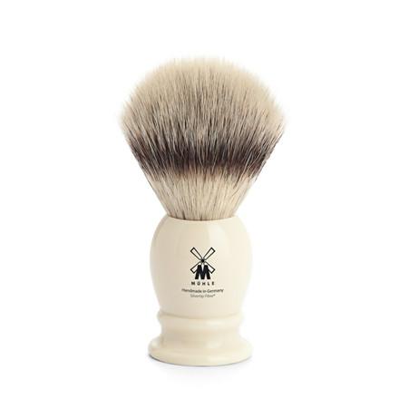 Mühle Silvertip Fiber®, Barberkost, 21 mm, Classic, Hvid Kunstharpiks