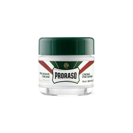 Proraso Preshave Cream - Refresh, Eucalyptus & Menthol, Rejsestørrelse 15 ml.