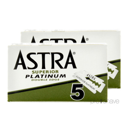 Astra Superior Platinum DE-Barberblade, 2x5 stk. (10 stk.)