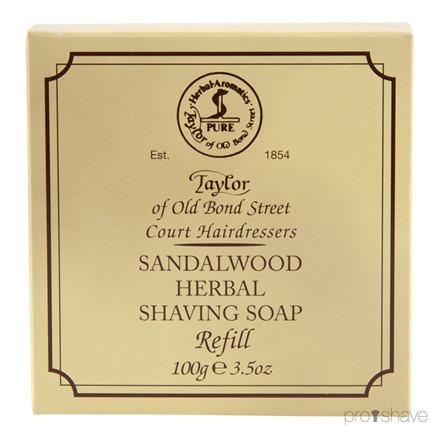 Taylor Of Old Bond Street, Sandeltræ Barbersæbe Refill 100 g.