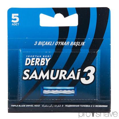 Derby Samurai 3 - Cartridge med 5 udskiftelige blade