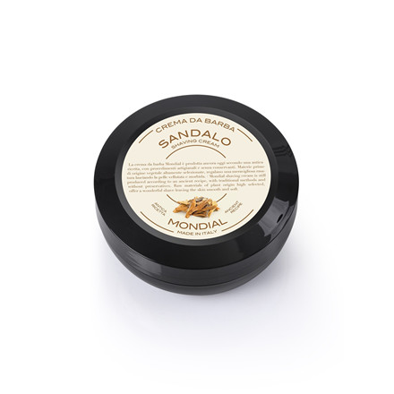 Mondial Shaving Barbercreme i Rejsestørrelse, Sandalwood, 75 ml.