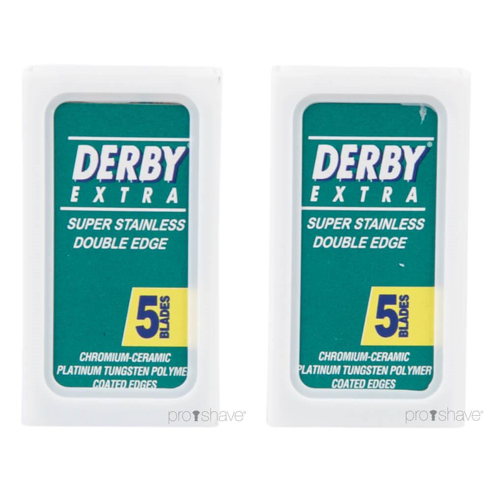 Derby Extra, Coated DE-Barberblade, 2x5 stk. (10 stk.)