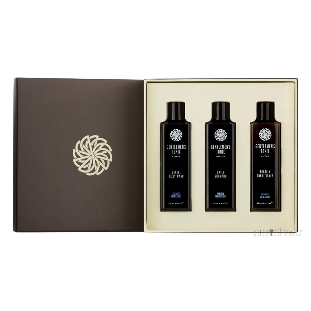 Gentlemens Tonic Shower Gift Set, 3 produkter i fuld størrelse