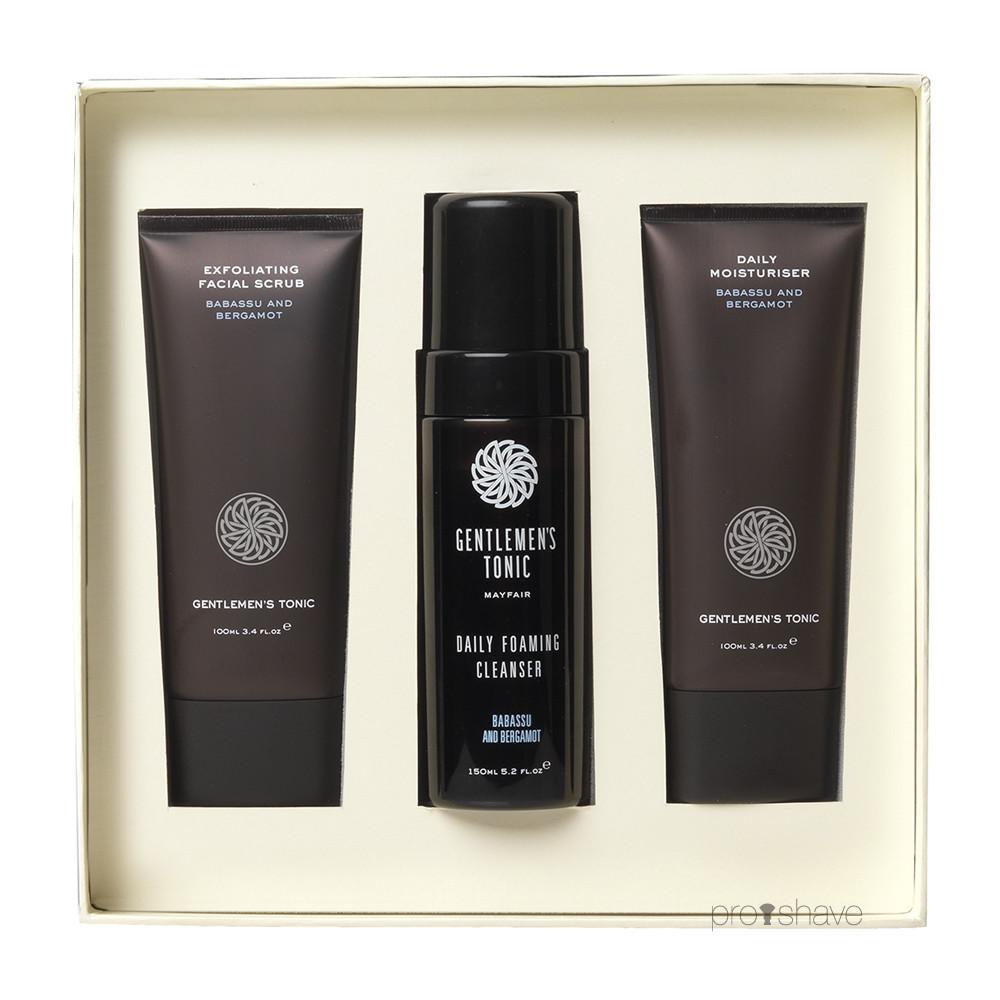 Gentlemens Tonic Facial Gift Set (scrub, cleanser, moisturiser)
