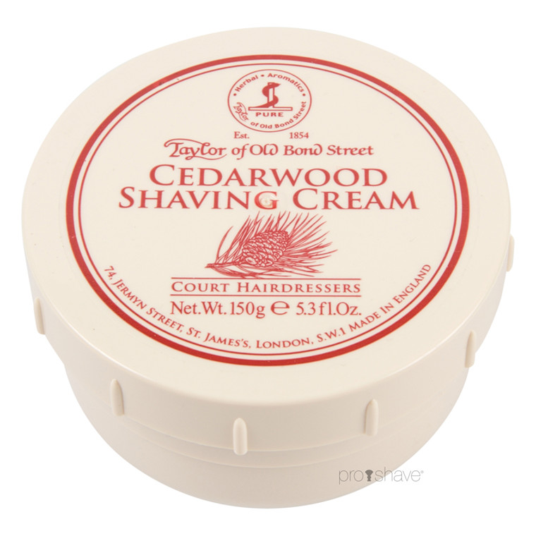 Taylor Of Old Bond Street Barbercreme Cedertræ, 150 gr.