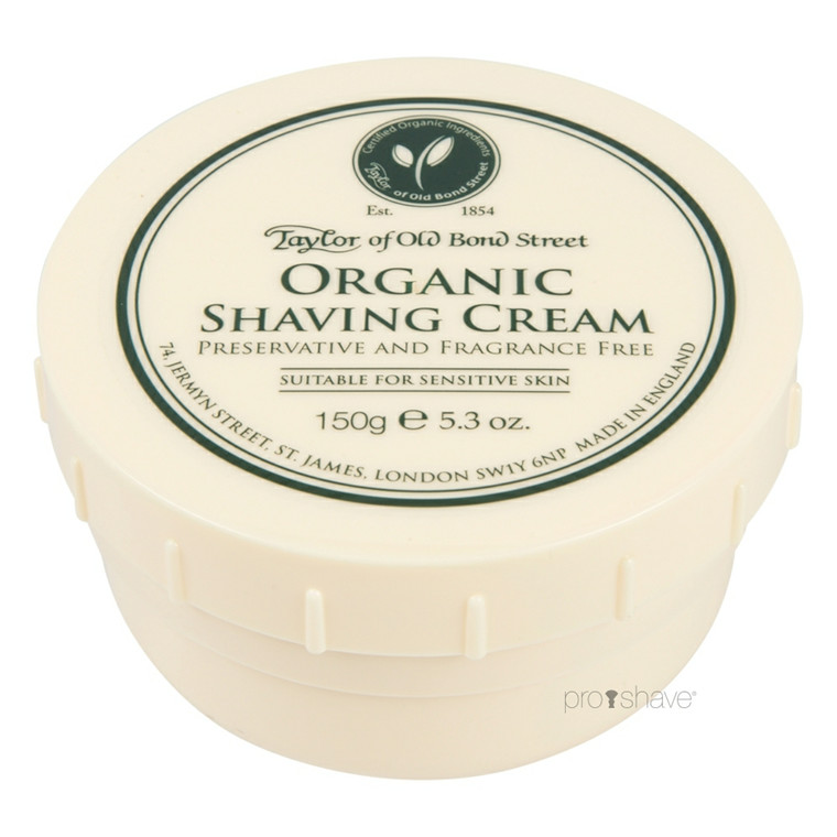 Taylor Of Old Bond Street Barbercreme, Organic, 150 gr.