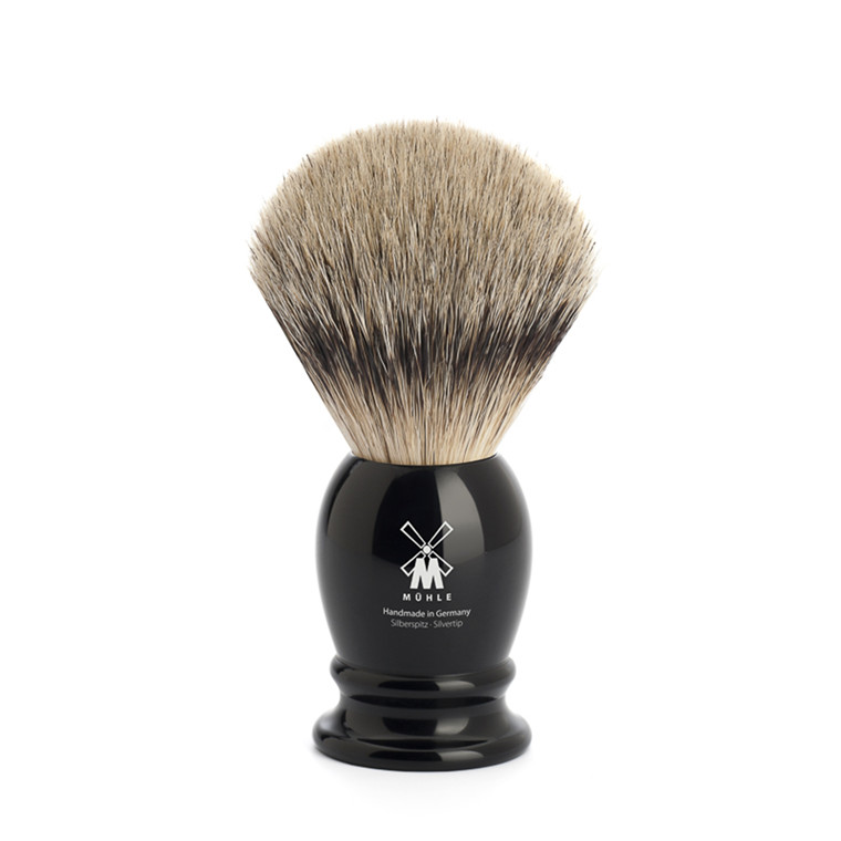 Mühle Silvertip Barberkost, 21 mm, Classic, Sort Kunstharpiks
