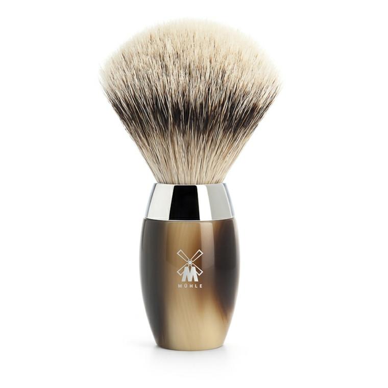 Mühle Silvertip Barberkost, 21 mm, Kosmo, Brunt Horn