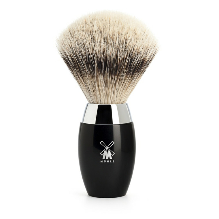 Mühle Silvertip Barberkost, 21 mm, Kosmo, Sort Kunstharpiks