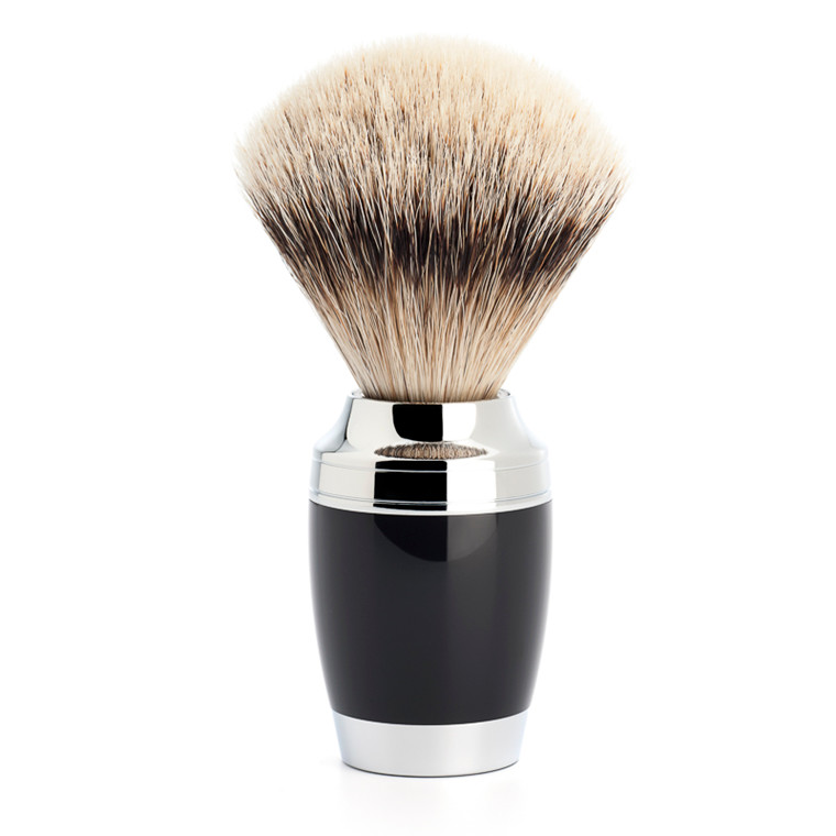 Mühle Silvertip Barberkost, 21 mm, Stylo, Sort Kunstharpiks