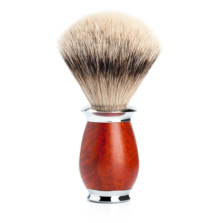 Mühle Silvertip Barberkost, 21 mm, Purist, Briar træ