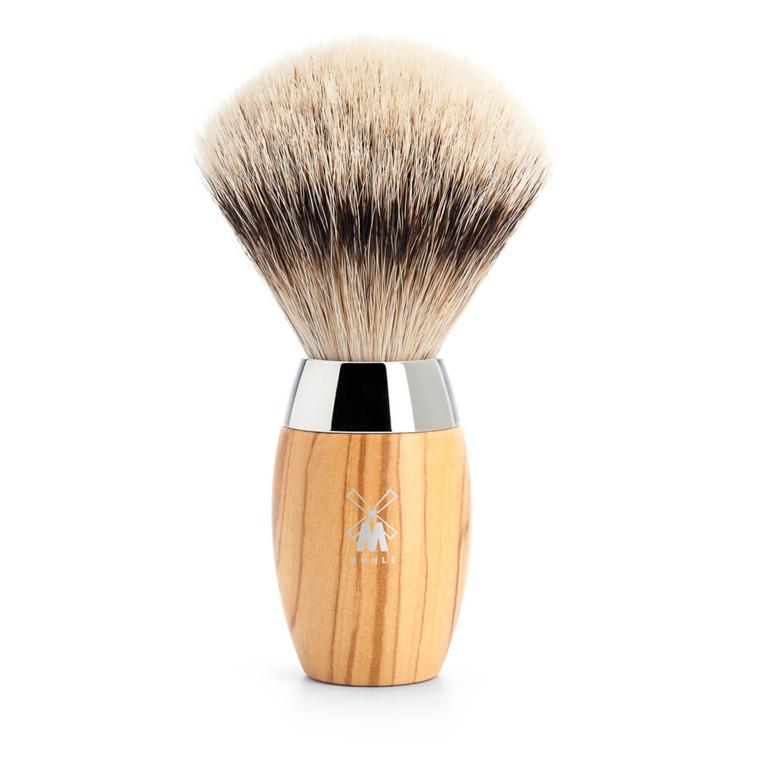 Mühle Silvertip Barberkost, 21 mm, Kosmo, Oliventræ