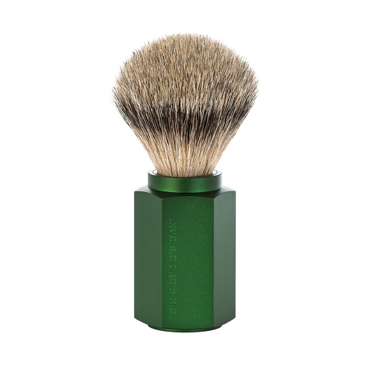 Mühle x Mark Braun Silvertip Badger Barberkost, 21 mm, Hexagon, Aluminium Forest