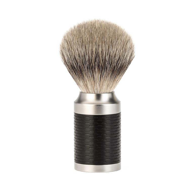 Mühle Silvertip Barberkost, 21 mm, Rocca, Rustfrit stål