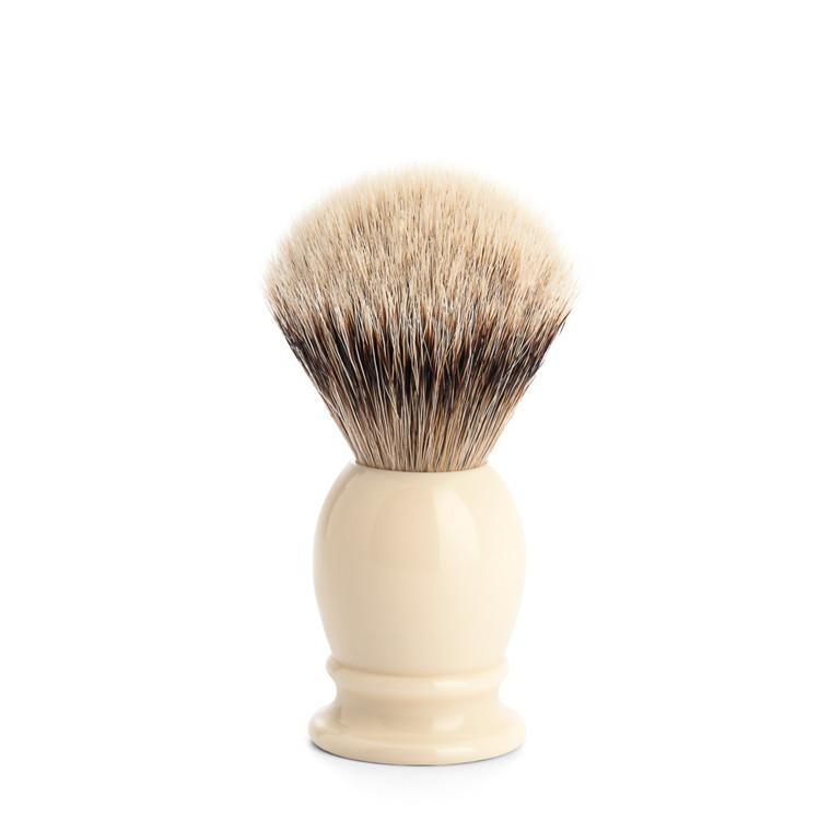 Mühle Silvertip Barberkost, 19 mm, Classic, Hvid Kunstharpiks