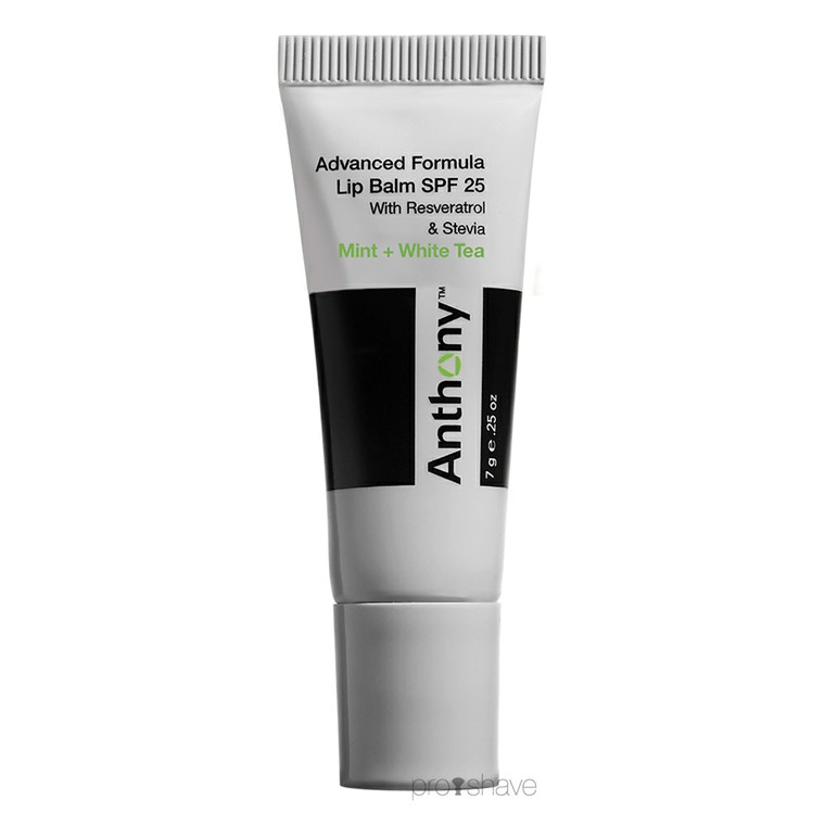 Anthony Lip Balm, Mint & White Tea SPF25, 7 gr.
