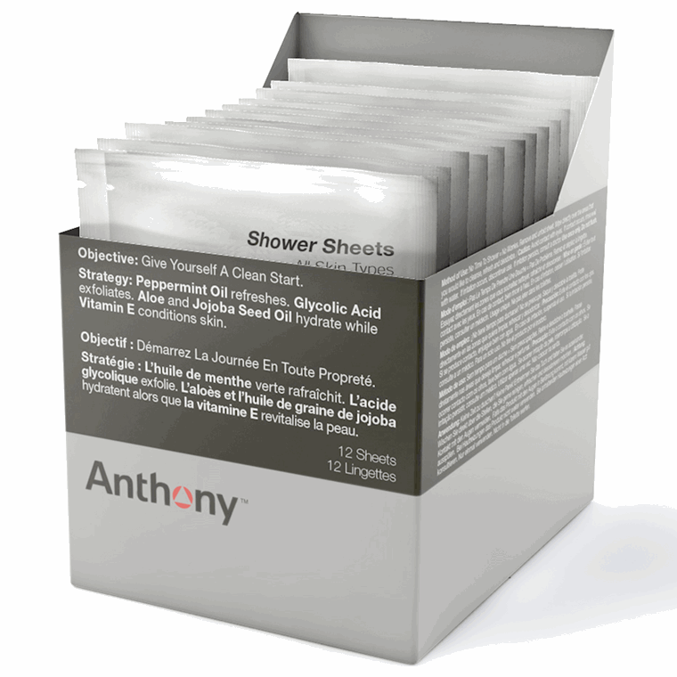 Anthony Shower Sheets, 12 stk.