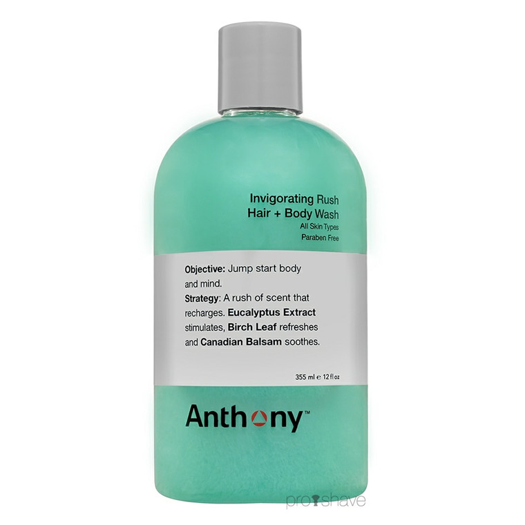 Anthony Invigoration Rush Hair & Body Shampoo, 355 ml.