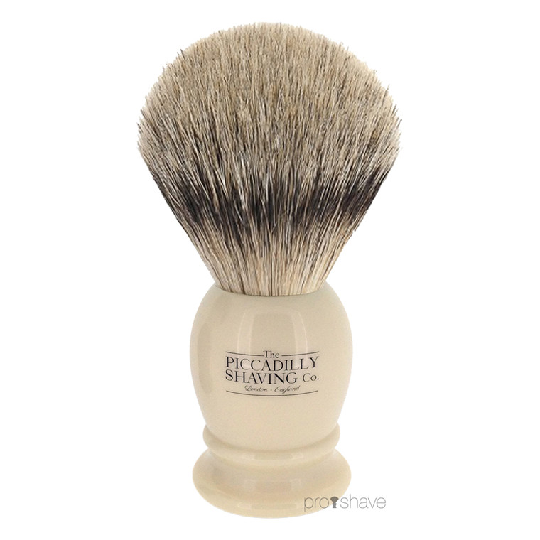 Piccadilly Shaving Super Badger Barberkost, lille, Ivory