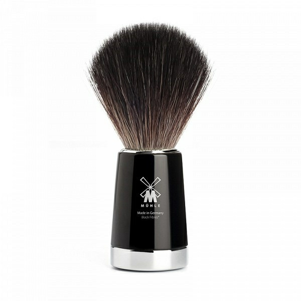 Mühle Black Fibre Barberkost, 21 mm, Liscio, Sort Kunstharpiks