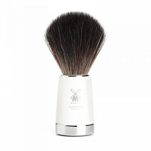 Mühle Black Fibre Barberkost, 21 mm, Liscio, Hvidt kunstharpiks