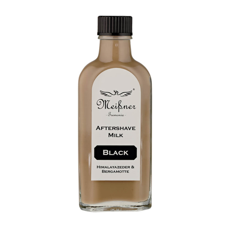 Meißner Tremonia Himalayan Cedar & Bergamotte Black Aftershave Milk, 100 ml.