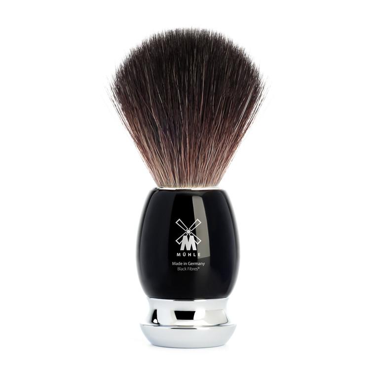 Mühle Black Fibre Barberkost, 21 mm, Vivo, Sort Kunstharpiks