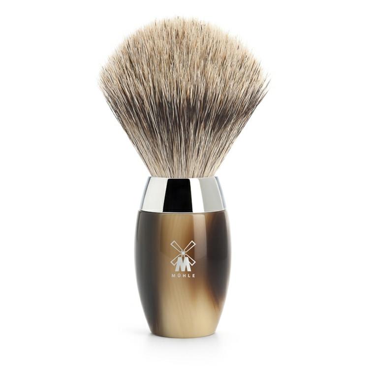 Mühle Fine Badger Barberkost, 21 mm, Kosmo, Brunt Horn