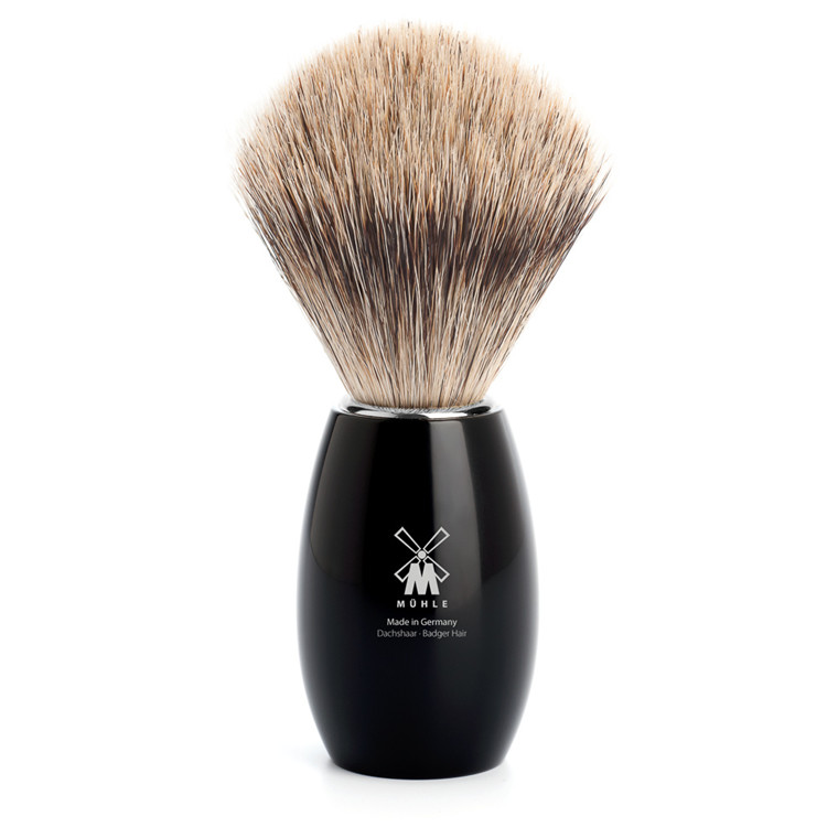 Mühle Fine Badger Barberkost, 21 mm, Sort Kunstharpiks