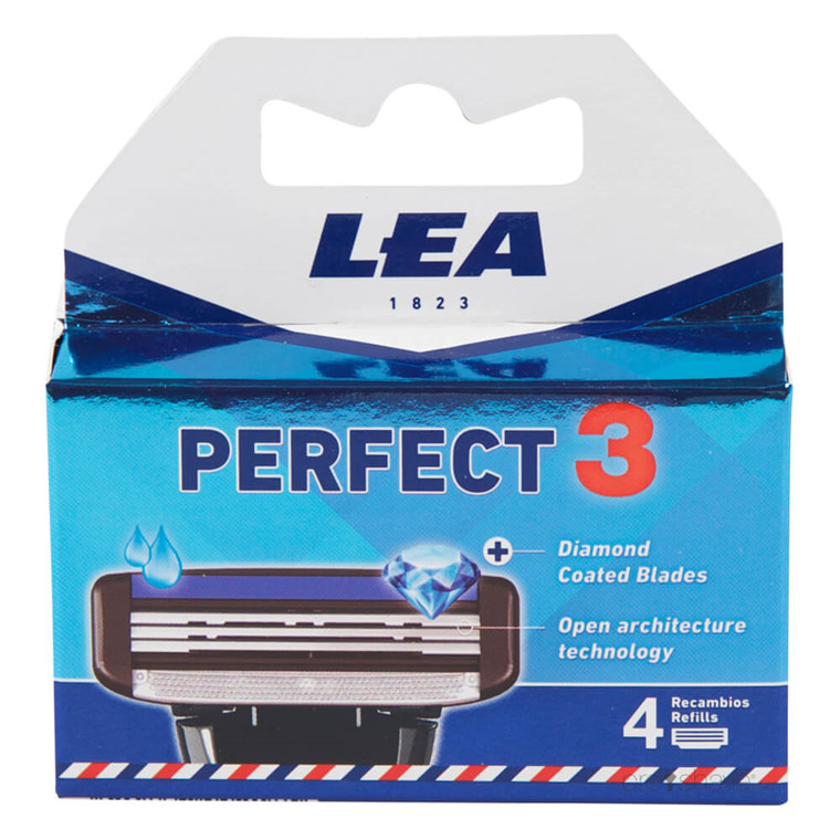 LEA Perfect 3, Cartridge med 4 barberblade (3 klinger)