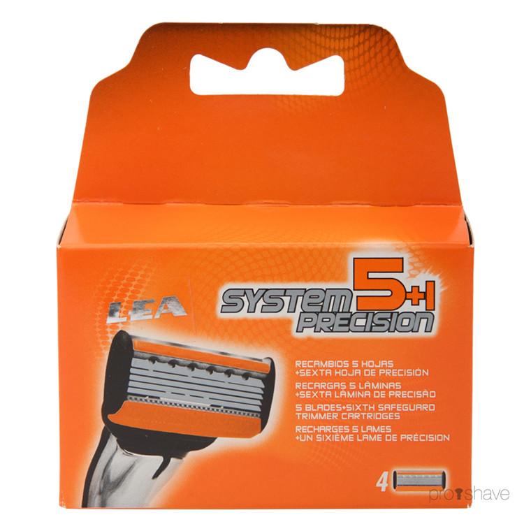 LEA 5+1 Precision System, Cartridge med 4 barberblade (5+1 klinger)