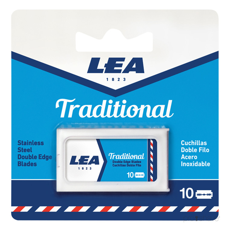 LEA Traditional, DE-Barberblade, 10 stk.