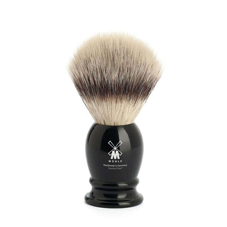 Mühle Silvertip Fiber®, Barberkost, 21 mm, Classic, Sort kunstharpiks