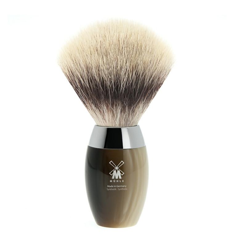 Mühle Silvertip Fibre® Barberkost, 21 mm, Kosmo, Brunt Horn