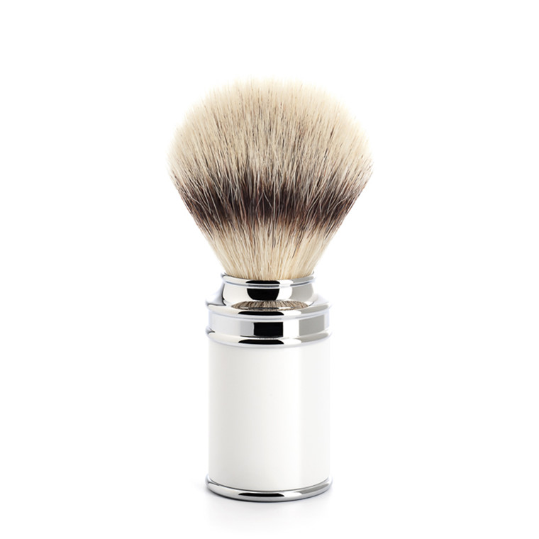 Mühle Silvertip Fibre® Barberkost, 21 mm, Traditional, Hvid Kunstharpiks