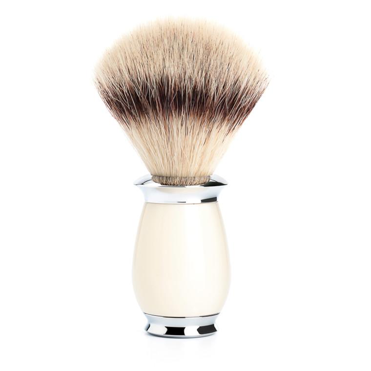Mühle Silvertip Fibre® Barberkost, 21 mm, Purist, Hvid Kunstharpiks