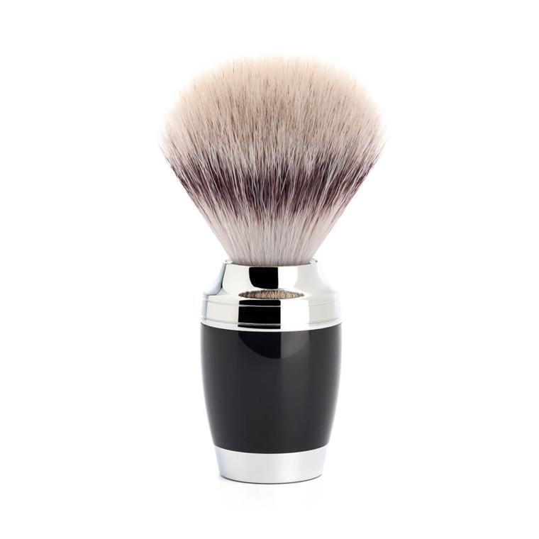 Mühle Silvertip Fibre® Barberkost, 21 mm, Stylo, Sort Kunstharpiks
