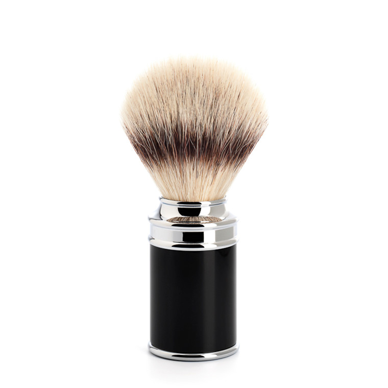 Mühle Silvertip Fibre® Barberkost, 21 mm, Traditional, Sort Kunstharpiks